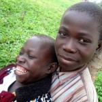 Andrew and his younger brother Guma.