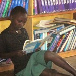 Thanks to donations from St. Mary's School in Lancaster, Ohio and Bishop Flaget in Chillicothe, Ohio, Miryante has worked with 'Books for Africa' to create a library. This is one of the only libraries in the district.