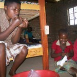 Children Sewing Sanitary Pads