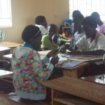 Students in the tailoring class at the vocational school