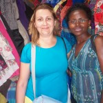 A Volunteer for the UK, Violeta comes to visit. Communications manager Doreen Tigah pictured right.